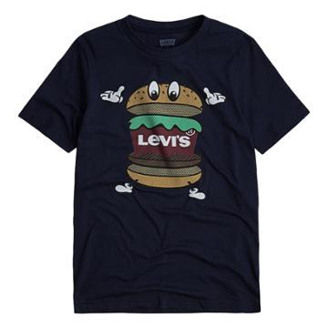 Boys 8-20 Levi's® Hamburger Tee, Size: Small, Blue (navy)