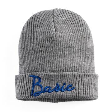 Women's Mudd® Embroidered Basic Beanie, Grey