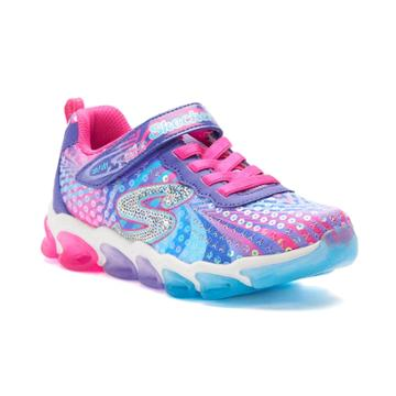 Skechers S Lights Jelly Beams Girls' Light Up Sneakers, Size: 12, Drk Yellow