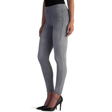 Women's Rock & Republic® Fever Denim Rx™ Pull-on Jean Leggings, Size: 4 Short, Med Grey