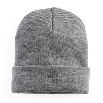 Women's Mudd® Solid Knit Beanie, Grey