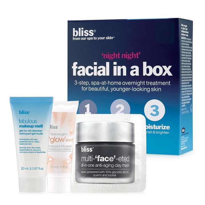 Bliss Night Night Facial In A Box Skin Care Set, Multicolor