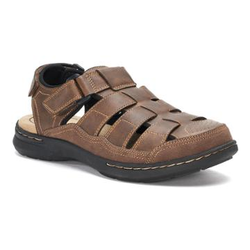 Croft & Barrow® Soprano Men's Ortholite Fisherman Sandals, Size: Medium (13), Brown