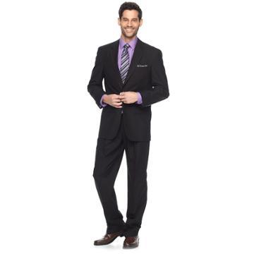 Men's Croft & Barrow® Classic-fit Unhemmed Suit, Size: 44l 38, Black