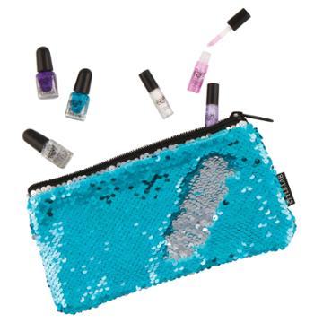 Girls 4-16 Fashion Angels Magic Flip Sequin Nail Polish & Wristlet Set, Blue