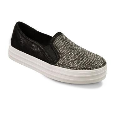 Skechers Street Double Up Shiny Dancer Women's Sneakers, Size: 10, Grey (charcoal)