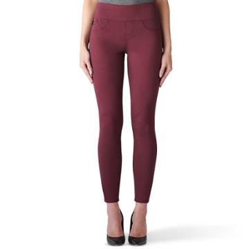 Women's Rock & Republic® Fever Denim Rx™ Midrise Pull-on Jean Leggings, Size: 8 Short, Dark Red