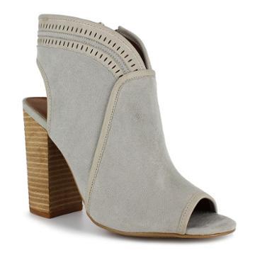 Dolce By Mojo Moxy Mason Women's Peep Toe Ankle Boots, Girl's, Size: Medium (10), Dark Grey