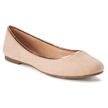 Lc Lauren Conrad Sheen Women's Ballet Flats, Size: 6, Natural