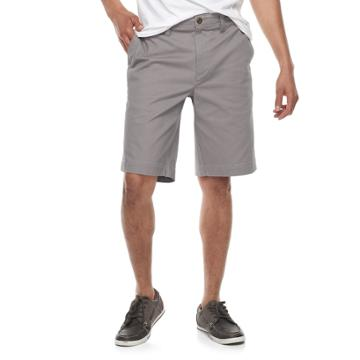 Men's Sonoma Goods For Life™ Flexwear Flat-front Twill Shorts, Size: 32, Med Grey