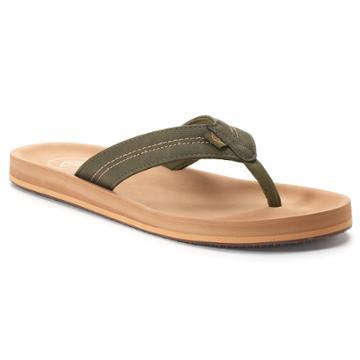 Men's Dockers Molded Footbed Flip-flop Sandals, Size: Large, Green
