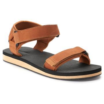 Men's Dockers Trekking Flip-flop Sandals, Size: Large, Beig/green (beig/khaki)