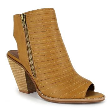 Dolce By Mojo Moxy Cash Women's Peep Toe Ankle Boots, Girl's, Size: Medium (6.5), Lt Brown