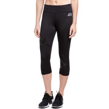 Women's Skechers Mineral Capri Leggings, Size: Xl, Black