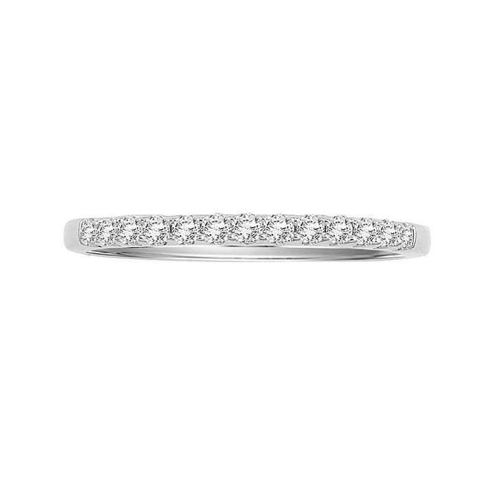 Cherish Always 14k White Gold 1/4-ct. T.w. Certified Diamond Wedding Band, Women's, Size: 6