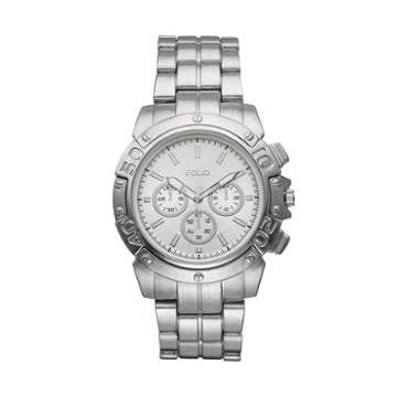 Folio Men's Stainless Steel Watch, Size: Xl, Silver
