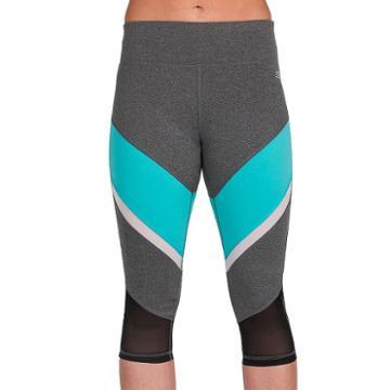 Women's Skechers Tempo Capri Leggings, Size: Large, Grey