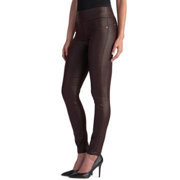 Women's Rock & Republic® Fever Denim Rx™ Pull-on Jean Leggings, Size: 6 Short, Dark Red