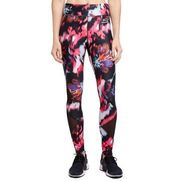 Women's Skechers Flower Burst Printed Leggings, Size: Large, Dark Pink