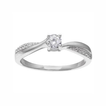 Primrose Sterling Silver Cubic Zirconia Ring, Women's, Size: 8, White