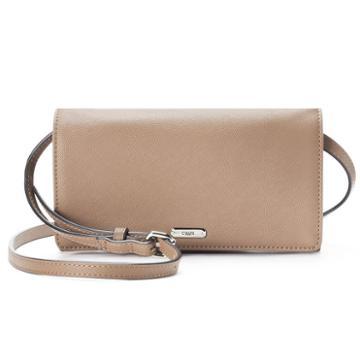 Chaps Kaelyn Saffiano Flap Crossbody Bag, Women's, Brown
