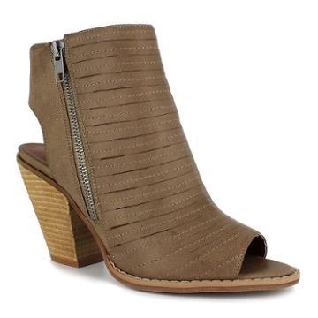Dolce By Mojo Moxy Cash Women's Peep Toe Ankle Boots, Girl's, Size: Medium (10), Beige Oth