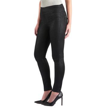 Women's Rock & Republic® Fever Denim Rx™ Pull-on Jean Leggings, Size: 4 - Regular, Black