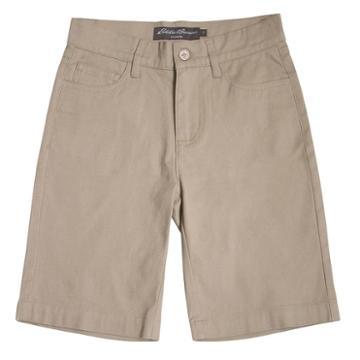 Boys 4-16 Eddie Bauer Stretch 5-pocket Shorts, Boy's, Size: 7, Beig/green (beig/khaki), Comfort Wear