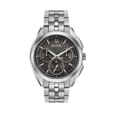 Bulova Men's Curv Stainless Steel Chronograph Watch - 96a186, Grey