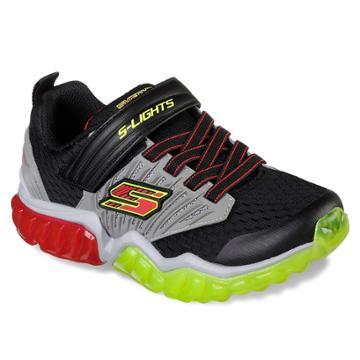 Skechers S Lights Rapid Flash Boys' Light Up Shoes, Size: 1, Silver