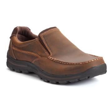 Skechers Relaxed Fit Braver Men's Slip-on Shoes, Size: 13, Dark Brown