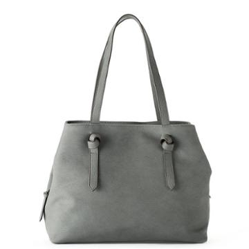 Sonoma Goods For Life™ Knotted Handle Triple Entry Tote, Women's, Dark Grey