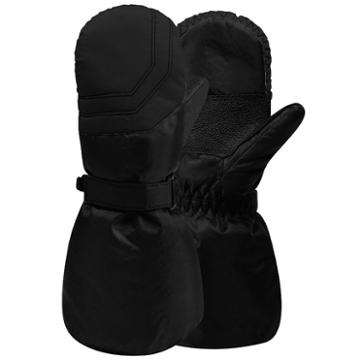 Girls 4-16 Igloos Nylon Ski Mittens, Girl's, Size: 4-6x, Black