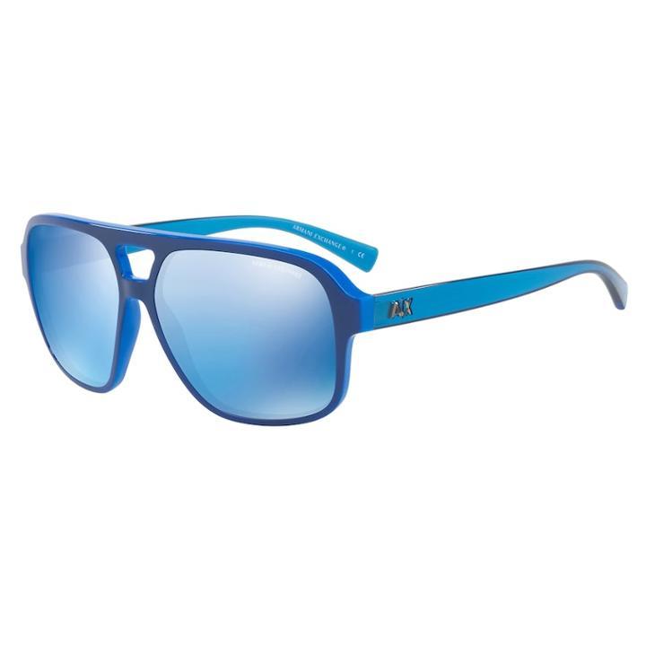 Armani Exchange Ax4061s 59mm Square Gradient Sunglasses, Women's, Grey