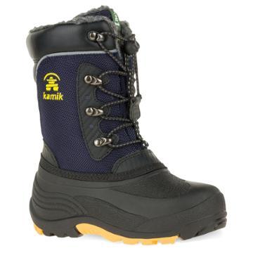 Kamik Luke Toddler Boys' Water Resistant Winter Boots, Size: 2, Blue (navy)