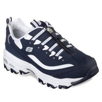 Skechers D'lites Zip Along Women's Sneakers, Size: 8, Med Blue