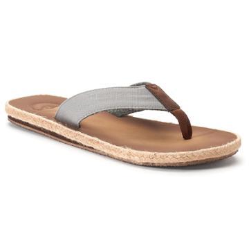 Men's Dockers Espadrille Flip-flop Sandals, Size: Xl, Grey