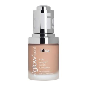 Bliss Ex'glow'sion Triple Oxygen Serum Foundation, Beig/green (beig/khaki), Durable