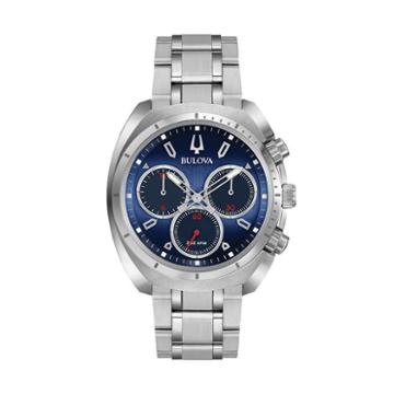 Bulova Men's Curv Stainless Steel Chronograph Watch - 96a185, Grey