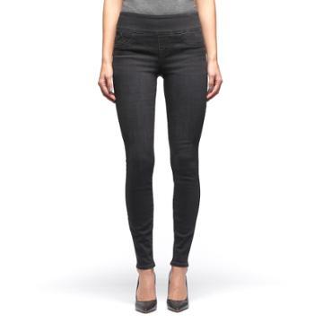 Women's Rock & Republic® Fever Denim Rx™ Pull-on Jean Leggings, Size: 0 Ave/reg, Black