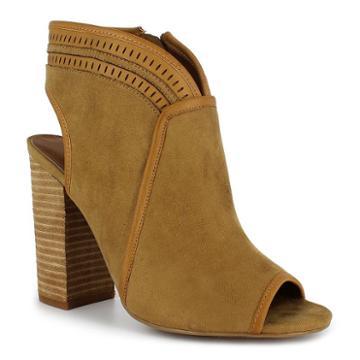 Dolce By Mojo Moxy Mason Women's Peep Toe Ankle Boots, Girl's, Size: Medium (8.5), Lt Brown