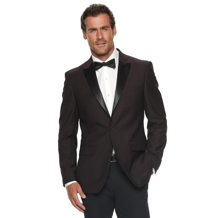 Men's Van Heusen Flex Slim-fit Stretch Sport Coat, Size: 46 - Regular, Dark Red