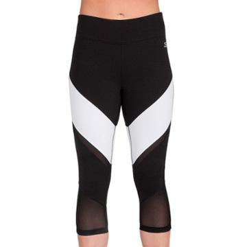 Women's Skechers Tempo Capri Leggings, Size: Medium, Black