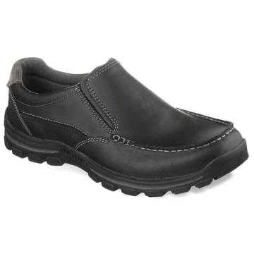 Skechers Relaxed Fit Braver Men's Slip-on Shoes, Size: 9.5, Grey (charcoal)
