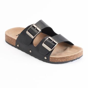 Mudd® Women's Double Buckle Slide Sandals, Size: Small, Black