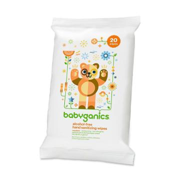 Babyganics 20-pk. Alcohol-free Mandarin Hand Sanitizer Wipes, White