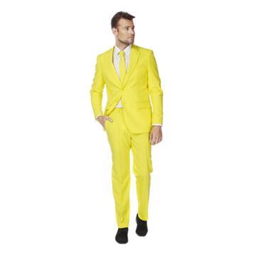 Men's Opposuits Slim-fit Yellow Fellow Suit & Tie Set, Size: 52 Reg