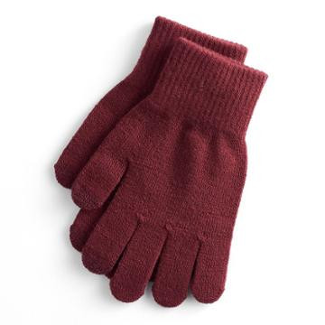 Women's So® Solid Tech Gloves, Dark Red