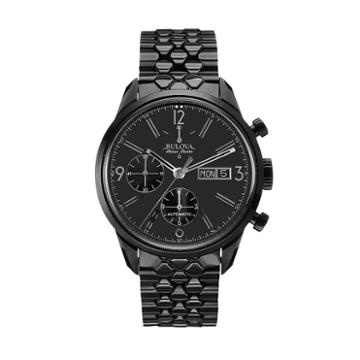 Bulova Men's Accu Swiss Ion-plated Stainless Steel Automatic Watch - 65c115, Black