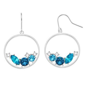 Brilliance Swarovski Crystal Hoop Earrings, Women's, Multicolor